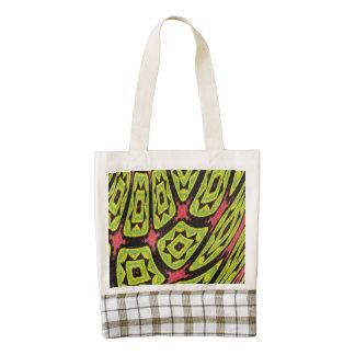 multicolored strange art cool pattern zazzle HEART tote bag