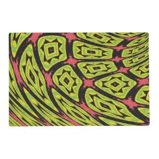 multicolored strange art pattern placemat