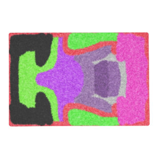 Multicolored strange pattern placemat