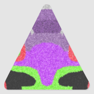 Multicolored strange pattern triangle sticker