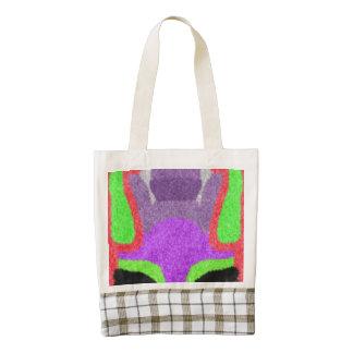 Multicolored strange pattern zazzle HEART tote bag