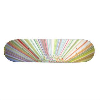 Multicolored Striped Autumn Skateboard