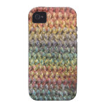 Multicolored striped knitted crochet vibe iPhone 4 covers