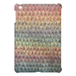 Multicolored striped knitted crochet case for the iPad mini