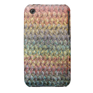 Multicolored striped knitted crochet iPhone 3 cases