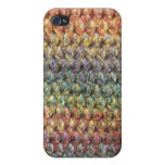 Multicolored striped knitted crochet case for iPhone 4