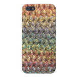 Multicolored striped knitted crochet iPhone 5 cover