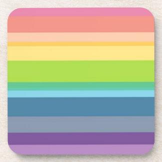 Multicolored Stripes Coaster