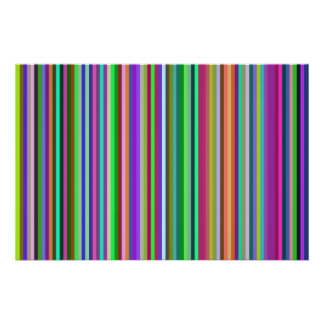 Multicolored Stripes Poster