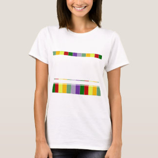 multicolored stripes top and bottom