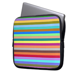 Multicolored strips computer sleeve