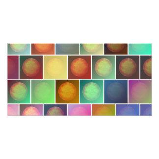 Multicolored suns card