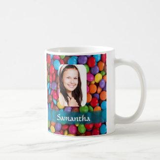 Multicolored sweets photo template coffee mug