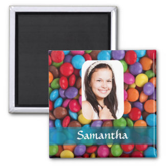 Multicolored sweets photo template magnet