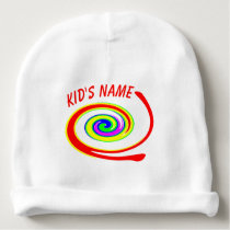 Multicolored swirl baby beanie
