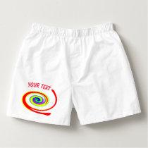 Multicolored swirl boxers