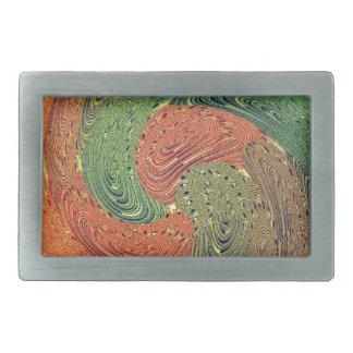 Multicolored Swirl Elegant Design Rectangular Belt Buckles