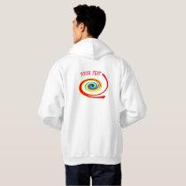 Multicolored swirl hoodie