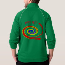 Multicolored swirl jacket