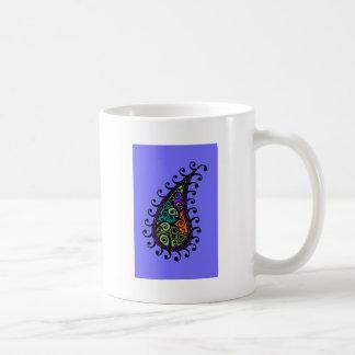 Multicolored swirl paisley coffee mug