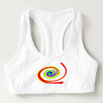 Multicolored swirl sports bra