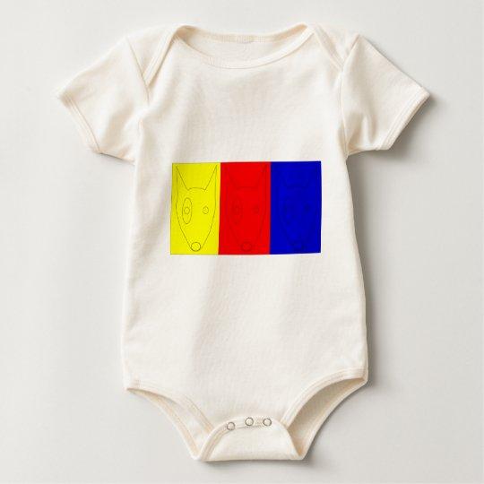 Multicolored Terrier Baby Bodysuit