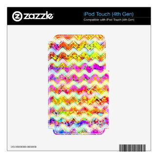 Multicolored Textured Chevron Skin For iPod Touch 4G