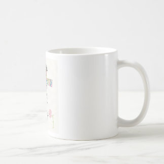 Multicolored thorn cross coffee mug