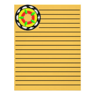Multicolored trendy abstract pattern letterhead
