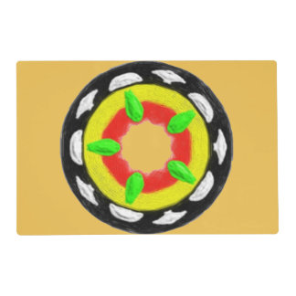 Multicolored trendy abstract pattern placemat