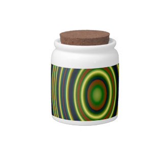 multicolored trendy pattern candy dish