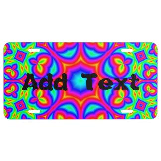 Multicolored trendy Pattern License Plate