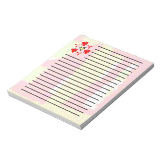 Multicolored trendy pattern notepad