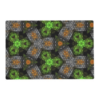Multicolored trendy pattern placemat