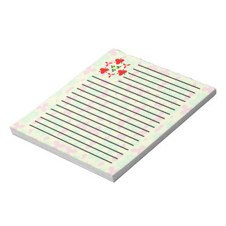 Multicolored trendy stylish pattern note pad