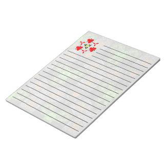 Multicolored trendy unique pattern note pad