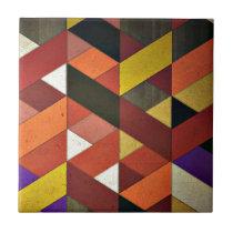 Multicolored Triangular Pattern Ceramic Tile