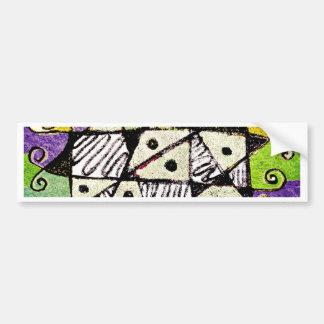 Multicolored Tribal Print Abstract Art Bumper Sticker