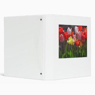 Multicolored Tulip Binder