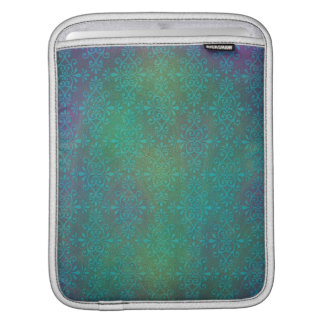 Multicolored Turquoise Abstract Damask iPad Sleeve