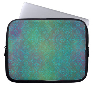 Multicolored Turquoise Abstract Damask Computer Sleeves