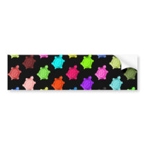 Multicolored Turtle Pattern Bumper Sticker