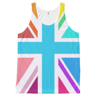Multicolored Union Jack/Flag Design All-Over Print Tank Top