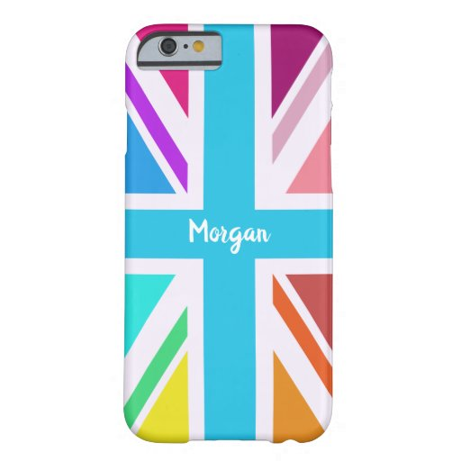 Multicolored Union Jack/Flag Design (Custom) Barely There iPhone 6 Case