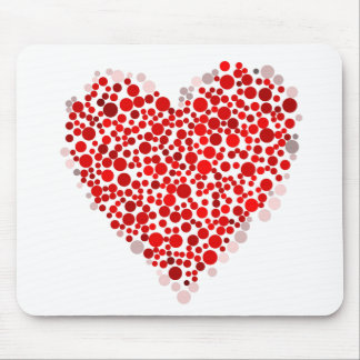 Multicolored Valentine's Day Heart Made of Dots Mousepad