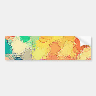 Multicolored Vintage Abstract Geometric Pattern Bumper Sticker