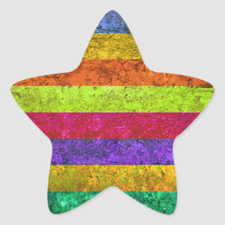 Multicolored Vintage Star Sticker