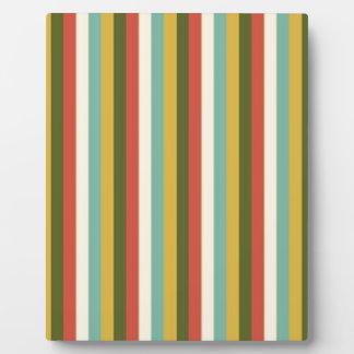 Multicolored Vintage Stripes Pattern Photo Plaques