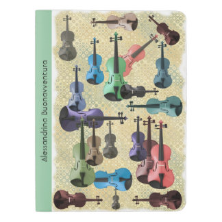 Multicolored Violin Wallpaper Customizable Name Extra Large Moleskine Notebook