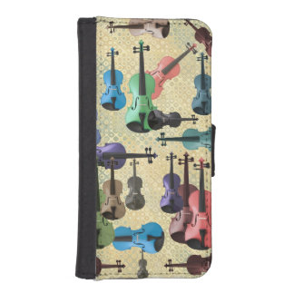 Multicolored Violin Wallpaper iPhone SE/5/5s Wallet Case